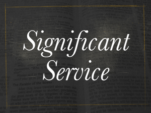 Significant Service